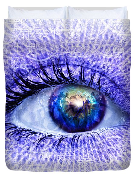 In The Eye Of The Beholder Duvet Cover by Robby Donaghey