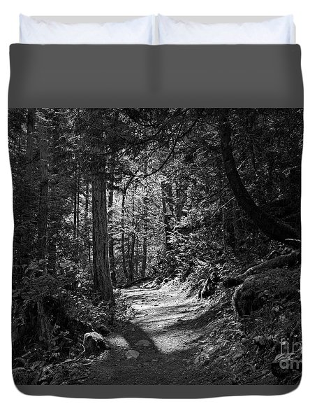 Duvet Cover featuring the photograph In The Forest by Cendrine Marrouat