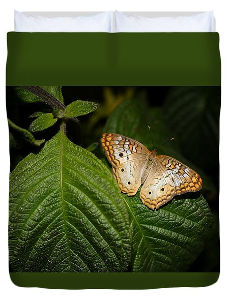 Duvet Cover featuring the photograph In The Spot Light by Living Color Photography Lorraine Lynch