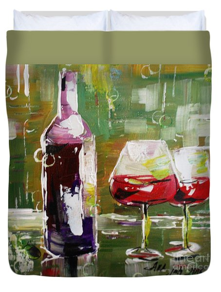 In Vino Veritas. Wine Collection Duvet Cover