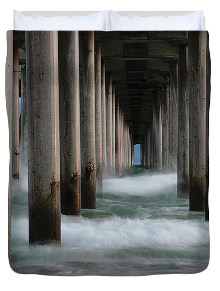 Duvet Cover featuring the photograph Infinity by Edgars Erglis