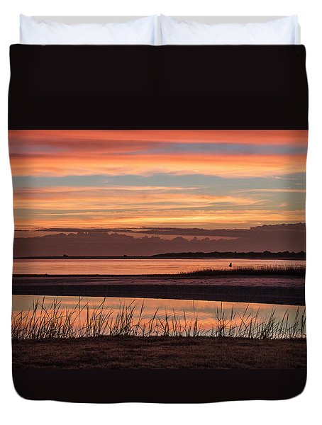 Inlet Watch Sunrise Duvet Cover