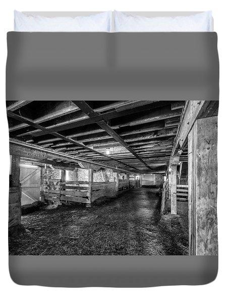 Inside The Barn Duvet Cover