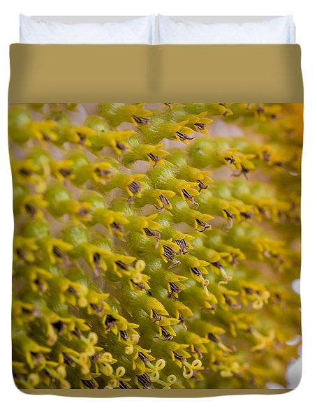 Inside The Sunflower Duvet Cover
