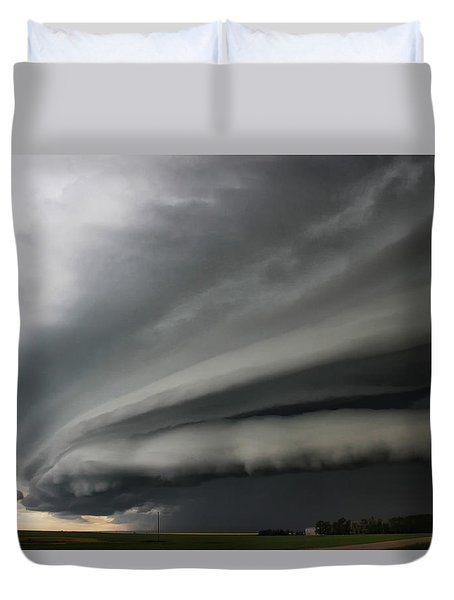 Intense Shelf Cloud Duvet Cover