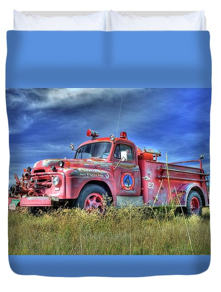 International Fire Truck 2 Duvet Cover