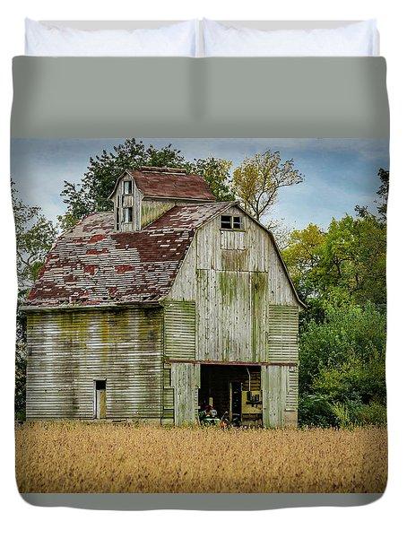 Iowa Barn Duvet Cover by Ray Congrove