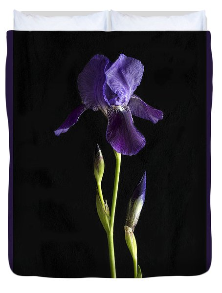 Duvet Cover featuring the photograph Iris by Elena Nosyreva