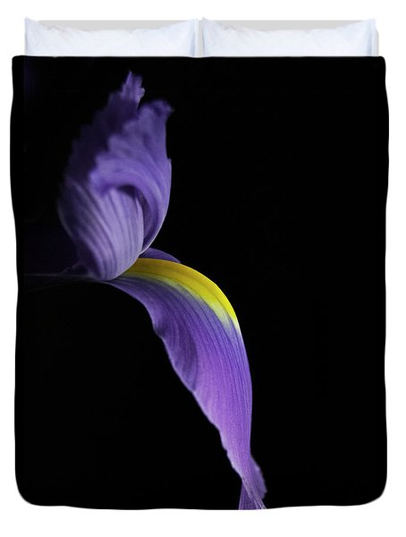 Duvet Cover featuring the photograph Iris by Elsa Marie Santoro
