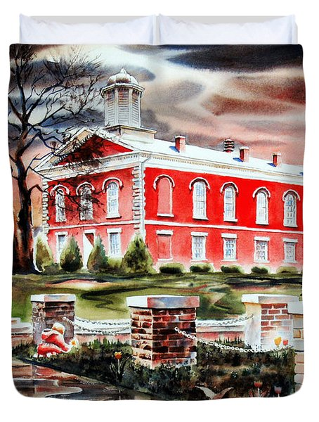 Iron County Courthouse II Duvet Cover