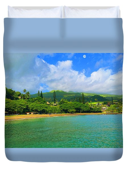 Island Of Maui Duvet Cover by Michael Rucker