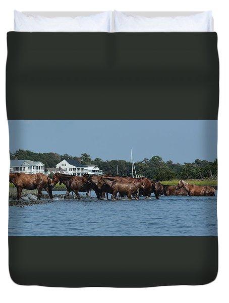 Island Ponies Duvet Cover