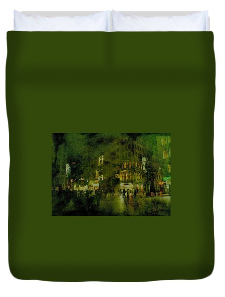 Duvet Cover featuring the photograph Istanbul by Jim Vance