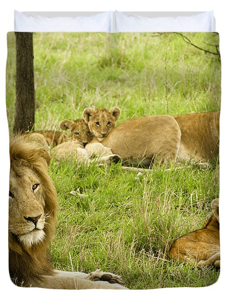 It's All About Family Duvet Cover by Michele Burgess