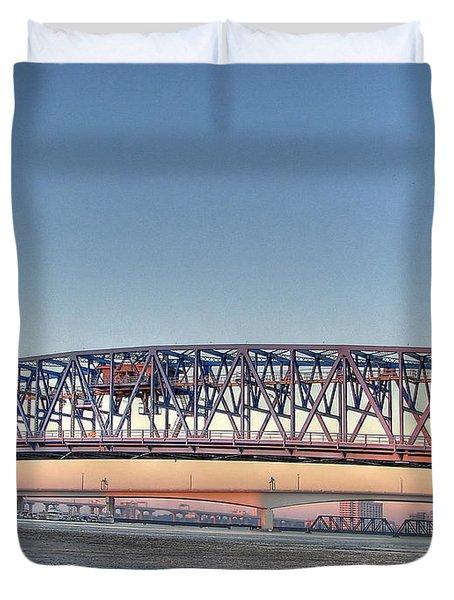 Jacksonville's Blue Bridge Duvet Cover
