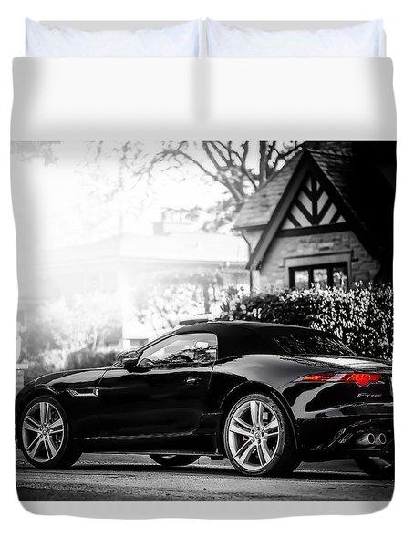 Jaguar F Type S  Duvet Cover by Darek Szupina Photographer