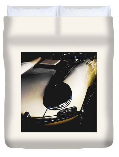 Jaguar In The Night Duvet Cover by Angela Davies