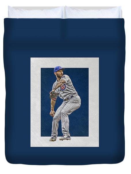 Jake Arrieta Chicago Cubs Art Duvet Cover