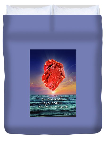 January Birthstone Garnet Duvet Cover