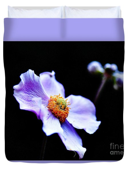 Duvet Cover featuring the photograph Japanese Anemone by Tanya  Searcy