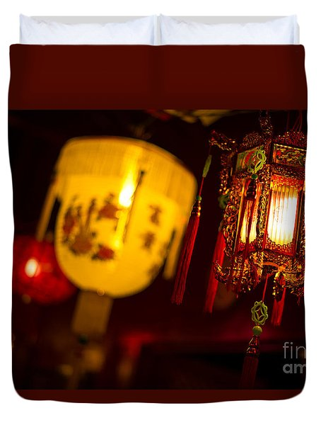 Japanese Lanterns 6 Duvet Cover