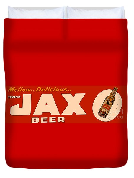 Jax Beer Of New Orleans Duvet Cover by Saundra Myles