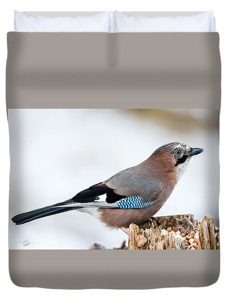 Jay In Profile Duvet Cover by Torbjorn Swenelius