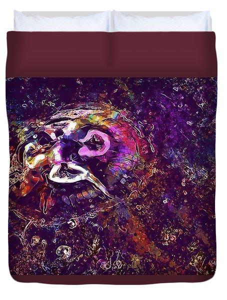 Duvet Cover featuring the digital art Jellyfish North Sea Beach Mollusk  by PixBreak Art