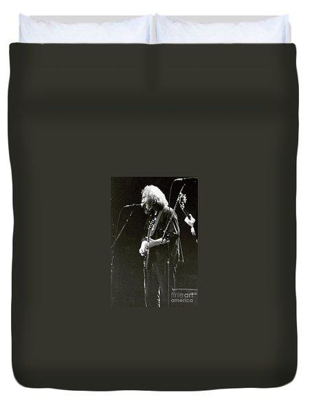 Duvet Cover featuring the photograph Grateful Dead - Jerry Garcia - Celebrities by Susan Carella