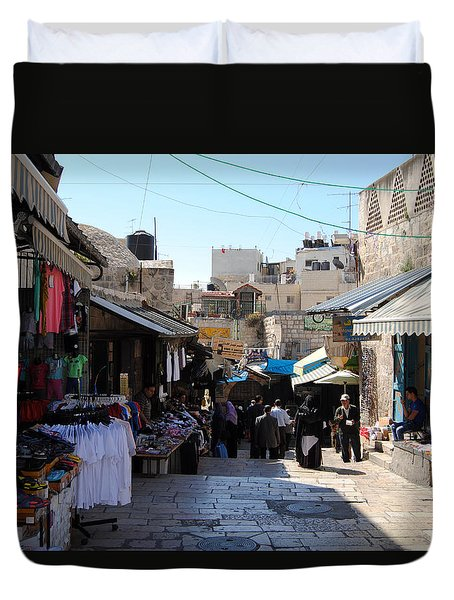 The Old City Of Jerusalem 1 Duvet Cover