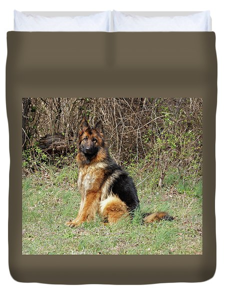 Duvet Cover featuring the photograph Jessy by Sandy Keeton