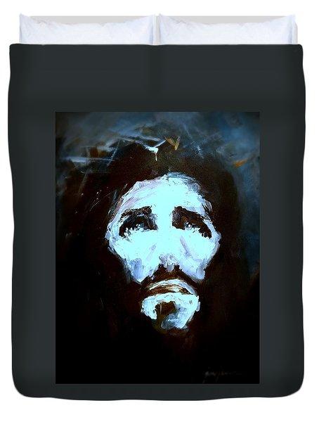Jesus - 4 Duvet Cover by Jun Jamosmos