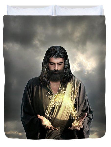 Jesus Christ- Look I Am Coming Soon Duvet Cover