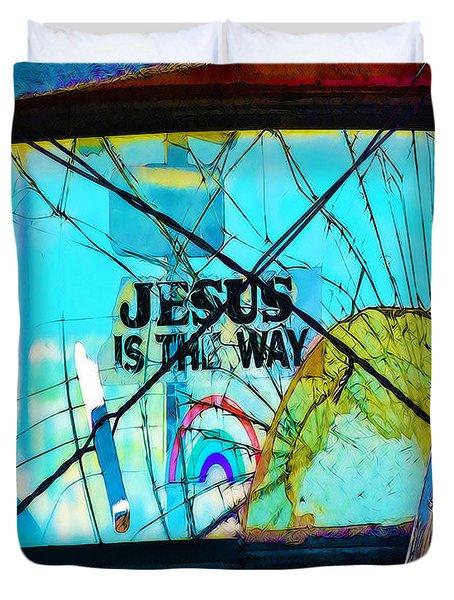 Jesus Is The Way Duvet Cover