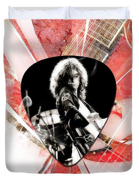 Jimmy Page Led Zeppelin Art Duvet Cover