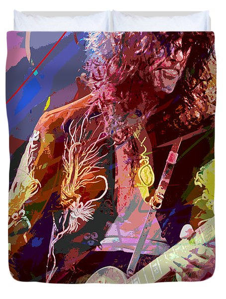 Jimmy Page Les Paul Gibson Duvet Cover