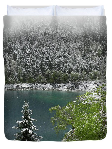 Jiuzhaigou National Park, China Duvet Cover