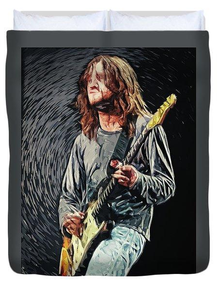 John Frusciante Duvet Cover by Taylan Apukovska
