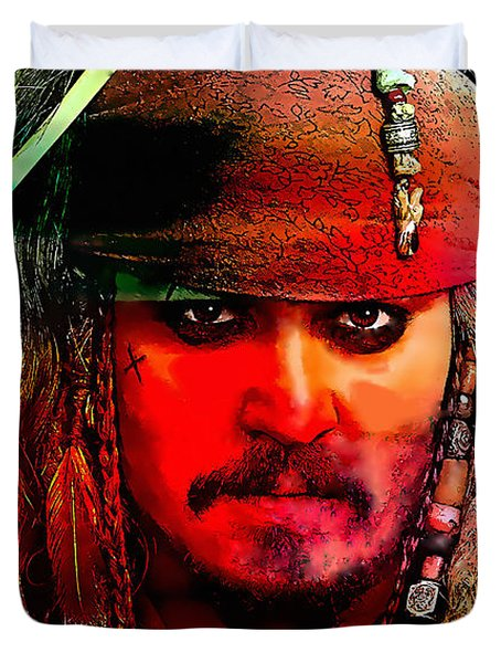 Johnny Depp Painting Duvet Cover