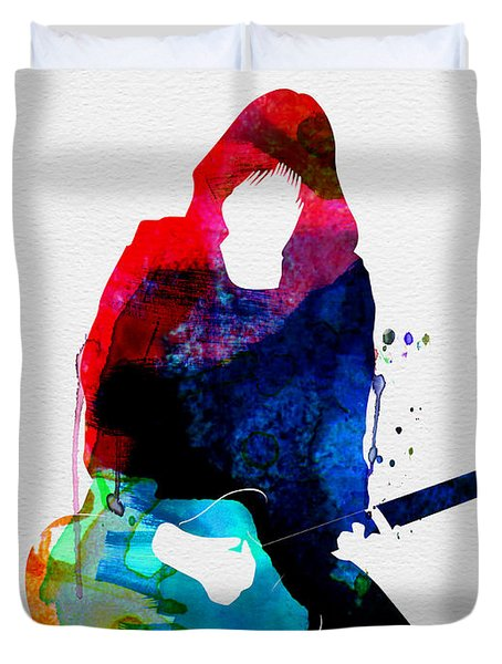 Johnny Watercolor Duvet Cover