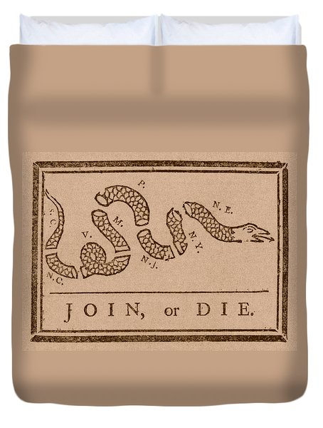 Join Or Die Duvet Cover