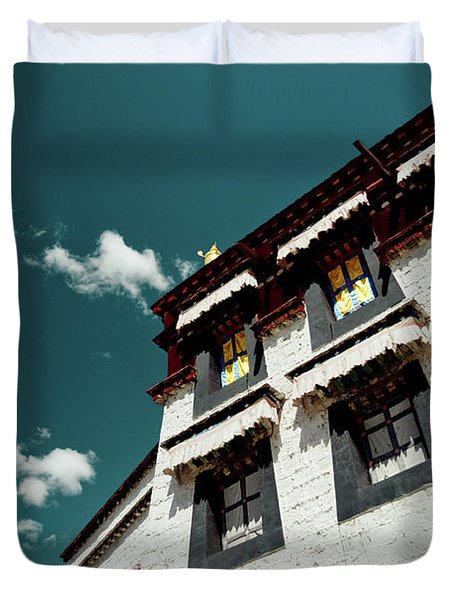 Jokhang Temple Wall Lhasa Tibet Artmif.lv Duvet Cover