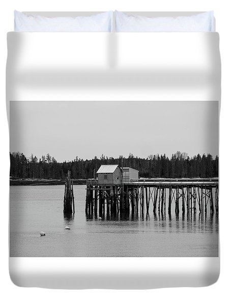 Jonesport, Maine Duvet Cover