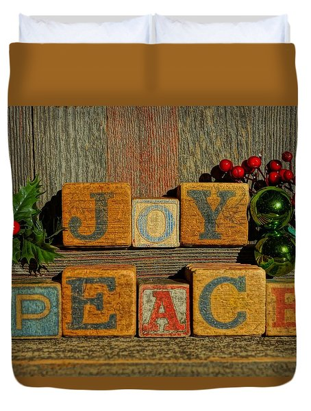 Duvet Cover featuring the photograph Joy And Peace  by Steven Clipperton