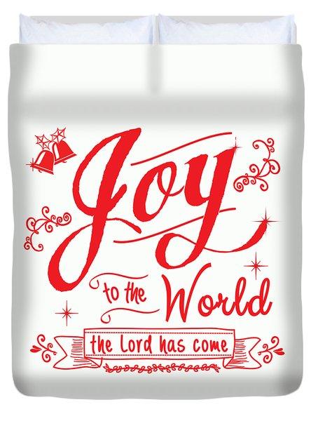 Joy To The World Duvet Cover