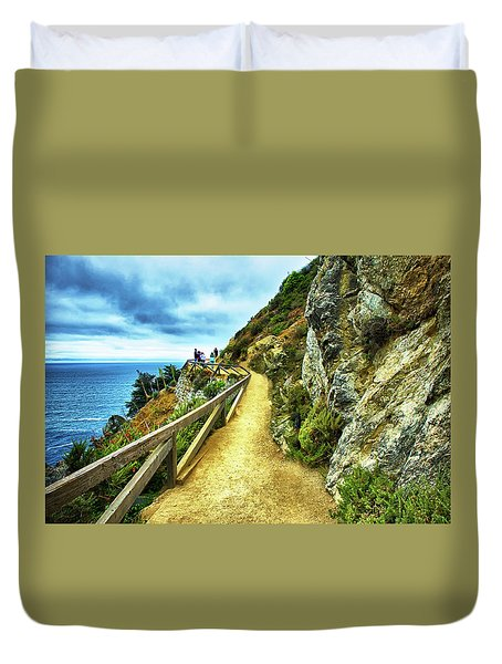 Julia Pfeiffer Burns State Park Duvet Cover