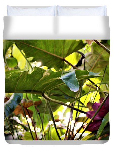 Duvet Cover featuring the photograph Jungle Jive by Mindy Newman