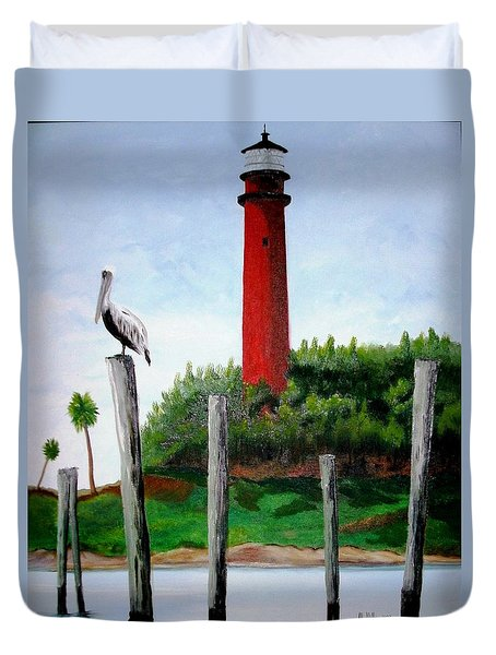 Jupiter Lighthouse Number Two Duvet Cover