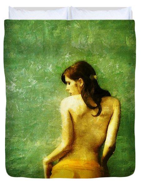 Just A Back Duvet Cover by Gun Legler