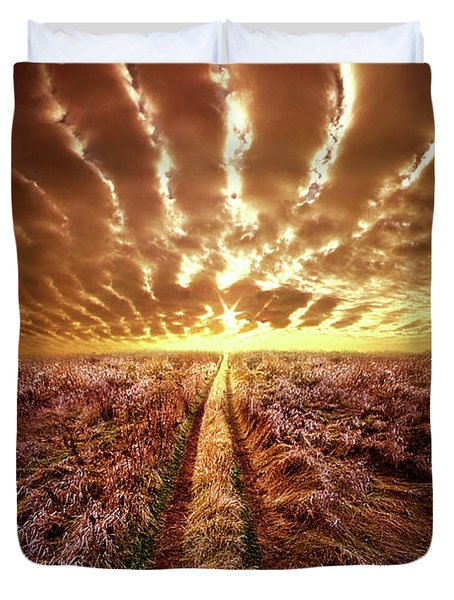 Duvet Cover featuring the photograph Just Over The Horizon by Phil Koch